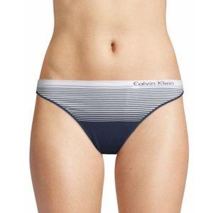 NWT Calvin Klein striped thong